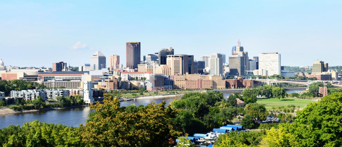View of Saint Paul skyline