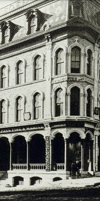 Illustration of the Fire and Marine Insurance building